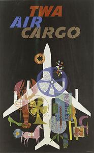 Cartel Vintage The transcontinental Twa vpp019 Art Print A4 A3 A2 A1