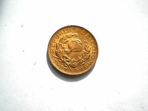 EARLY-1-CENTAVO-COIN-FROM-COLOMBIA-DATED-1967-NICE