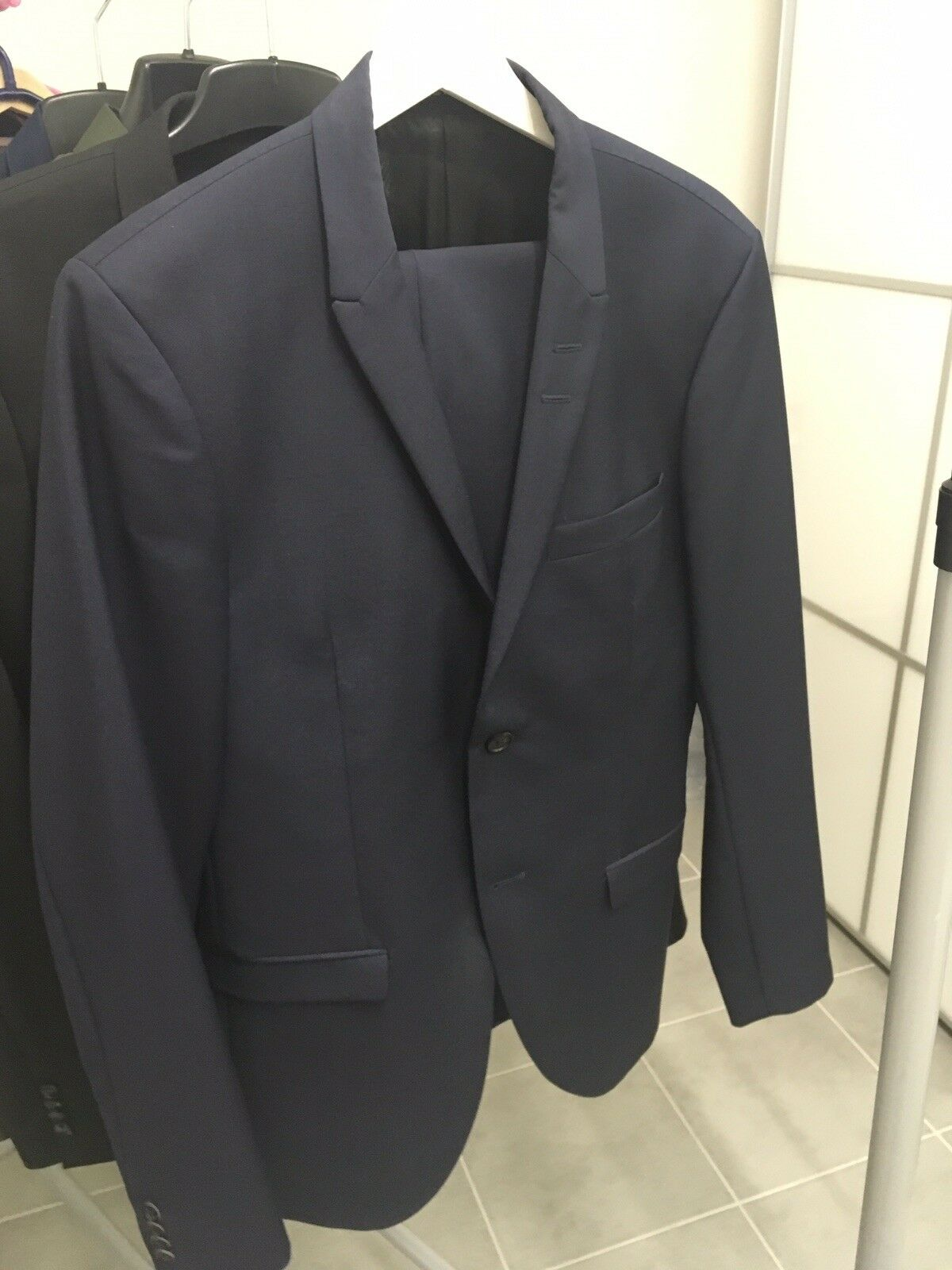 TIGER OF SWEDEN, Anzug, Modell Evert, blau, 48, Wolle/Mohair, slim fit,neuwertig