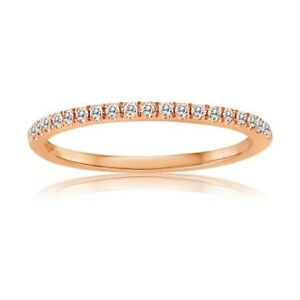 14K-Rose-Gold-with-Diamonds-Ring-Band-0-15-Carats-Size-6-5