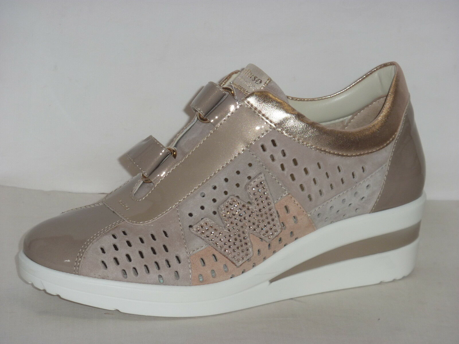 MELLUSO TENNIS COLOR DONNA SNEAKERS COLOR TENNIS CORDA  A STRAPPO PLANTARE ESTRAIBILE n.35 24866a