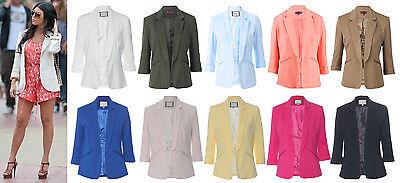 Womens MISSI Designer Celeb Tailored Blazer Smart Jacket Casual Coat Blazer 8-16