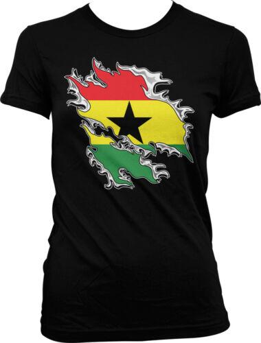Shredded Ghana Rip Through Flag Ghanaian Pride Juniors T-shirt