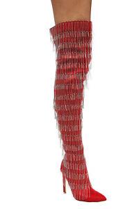 Cape-Robbin-Gigi-138-Red-Pointy-Metal-Silver-Fringe-Thigh-High-Stiletto-Boots