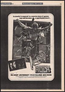 THE INCREDIBLE HULK__Original 1979 Trade Print AD/ poster_TV promo__LOU FERRIGNO