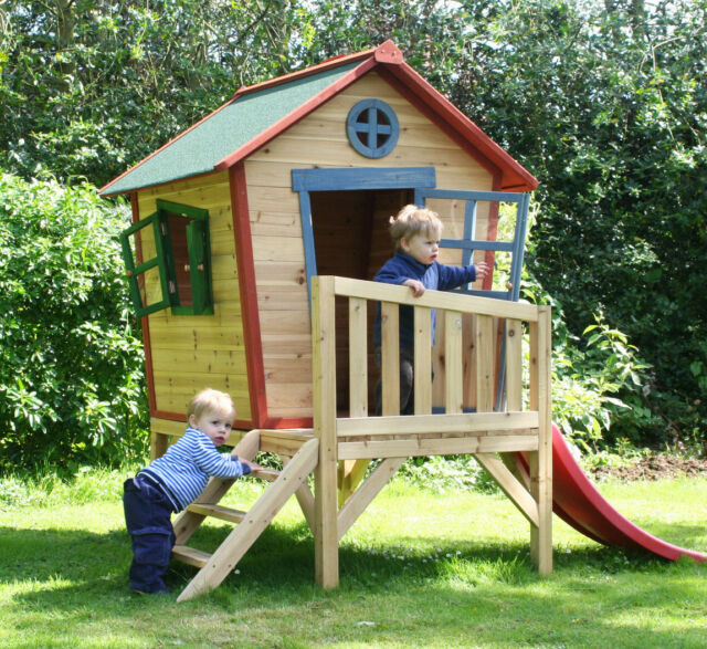 Redwood Tower Wooden Playhouse Childrens Garden Play Den Outdoor Wendy House