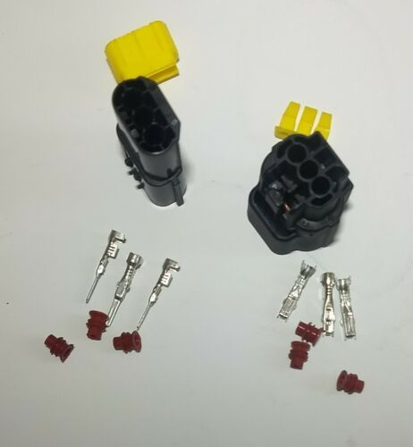 AMP 3 WAY ECONOSEAL MALE /& FEMALE WATERPROOF CONNECTOR PLUG KIT FITS LANDROVER
