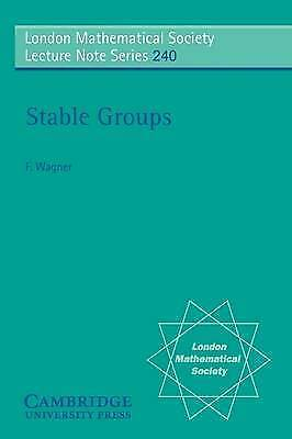 1 of 1 - Stable Groups (London Mathematical Society Lecture Note Series)-ExLibrary