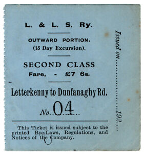 I-B-Londonderry-amp-Lough-Swilly-Railway-Second-Class-Fare-7-6