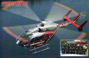 Nightingale Regional Air Ambulance, Helicopter, VA -- Courtesy Card NOT Postcard