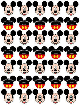 35 Mickey Mouse Edible Wafer Rice Paper Cupcake Cake Toppers Decoration Personal