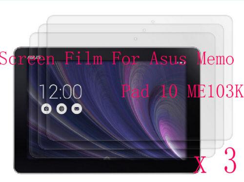3 Glossy Matte Screen Protector Guard Film Cover F Asus Memo Pad 10 ME103K 103K