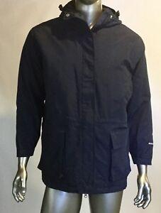 newest f3d98 61af1 Details zu Vintage Damen Woolrich Nylon Regenjacke/Windjacke mit Kaputze,  Seite XL, Blau