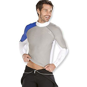 Aqua Lung SPF 50 Rated Long  Sleeve Mens Rash Guard  the lowest price