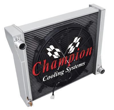 "Champion 3 Row Aluminum Radiator W// 16/"" Fan for 1941 Jeep Willys"