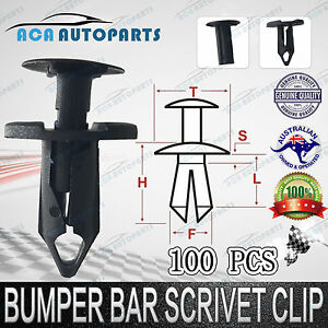 Clips-Fit-Holden-Commodore-VY-VZ-VE-Inner-Guards-Splash-Guards-Cold-Air-Intakes