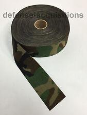 "60 YARDS OF 1000 Denier Fabric 2.25"" Width Cordura Military WOODLAND CAMO"