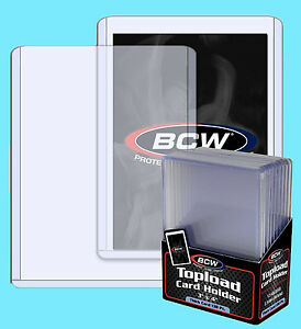 10-BCW-138pt-3-5MM-THICK-TOPLOADERS-NEW-Trading-Card-Holder-Sport-Jersey-Topload