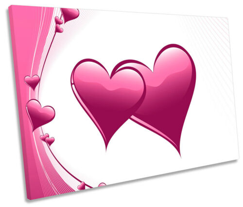 Love Hearts Romance SINGLE CANVAS WALL ART Box Framed