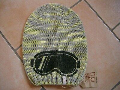 (352) Bambini Berretto Freaky Testa Beanie Inverno Cappello Occhiali Logo Di Stampa Flag Gr.55-mostra Il Titolo Originale