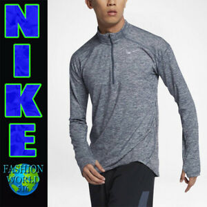 15c3b674 Nike Men's Size Medium Dry Element Half Zip Running Top Thunder Blue ...