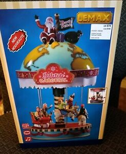 Lemax Yuletide Carousel Santa Sights Sounds Mini Christmas Village NIB 2019