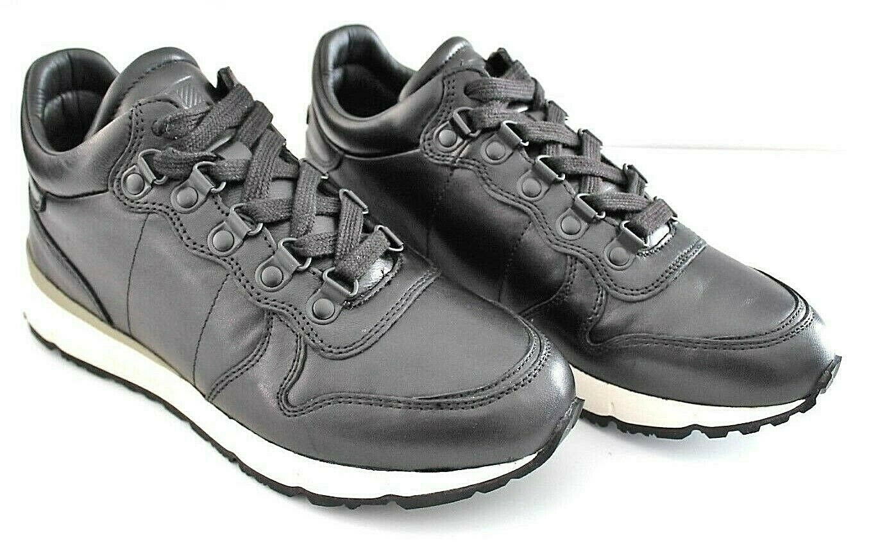 Woolrich Frau Turnschuhe Schuhe Jogger W3103315GUANTINO schwarz echtes Leder      e05c2c