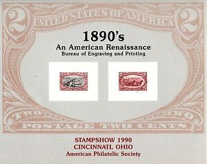 Bureau Engraving and Printing American Renaissance 2c Stamps