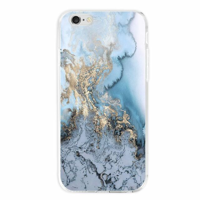 Black Marble Stone Pattern Case TPU Shockproof Cover Shell for Cell Phone iPhone