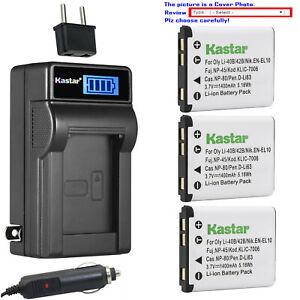 D-Li63 D-Li108 Battery Charger for Pentax Optio RS1500 T30 V10 W30 NB1000 LS465