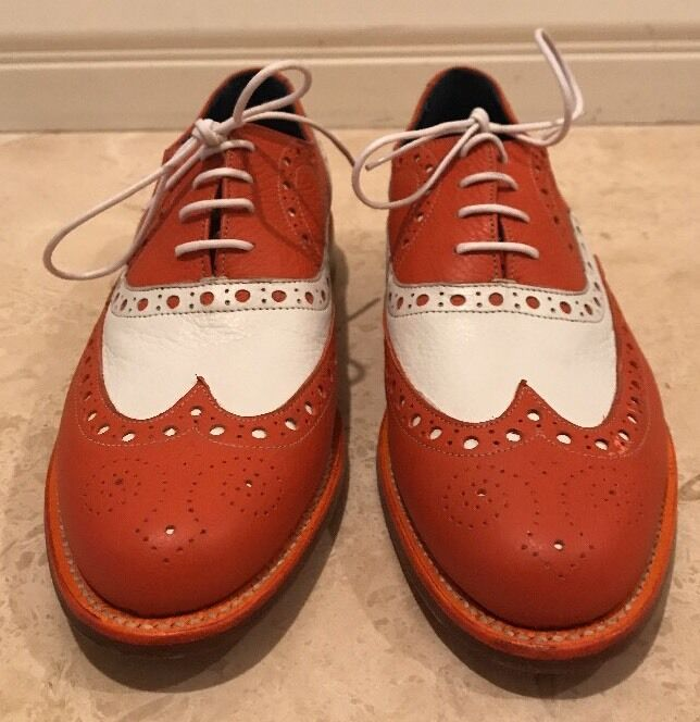 BARKER England England BARKER Bench Made Pelle Brogues Wing Tips Oxford US 8.5 NEW 818a09
