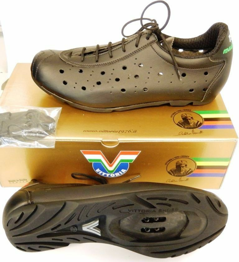 New  EVO MAT VITTORIA CLASSIC  1976 VINTAGE CYCLING SHOES - shoes RETRO SPD  quality product