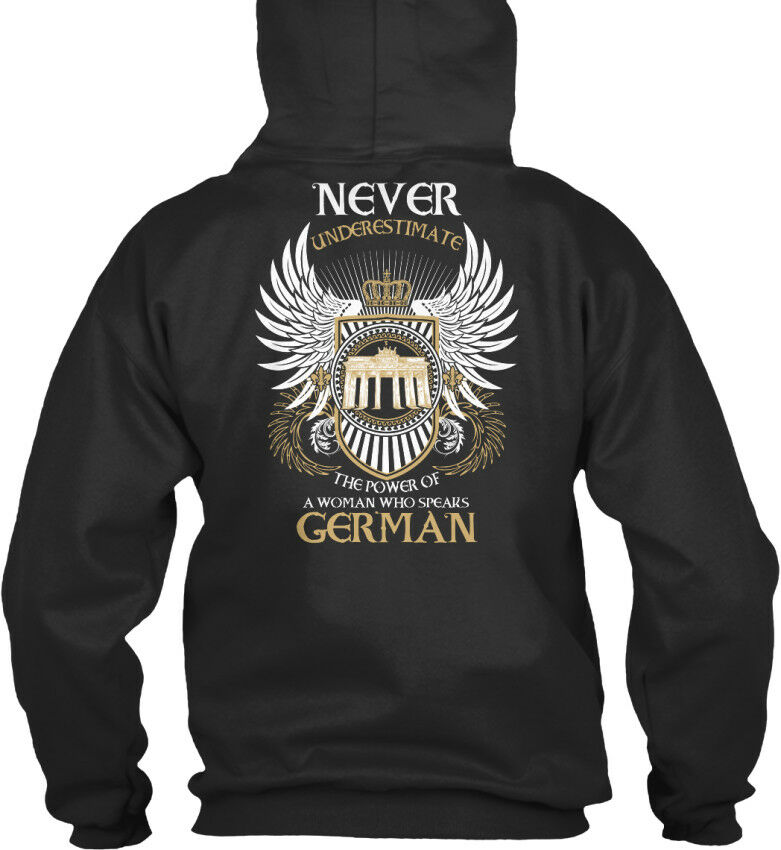 I Speak German - Oi Never Underestimate The Power Of A Standard College Hoodie  | Sofortige Lieferung