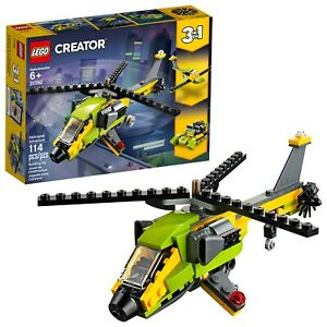 LEGO-Creator-3in1-Helicopter-Adventure-31092-Building-Kit-New-2019-114-Piece