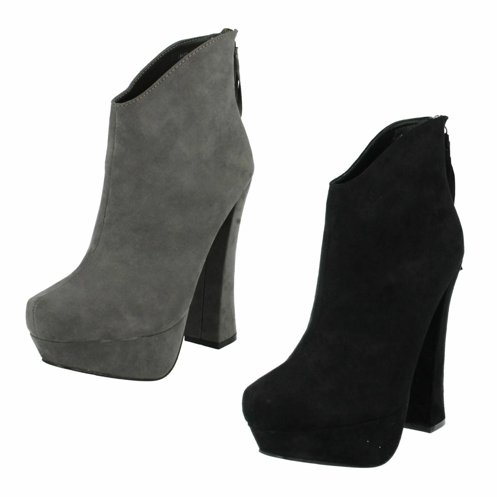 Ladies Coco Heeled Ankle Boots The Style - L8632