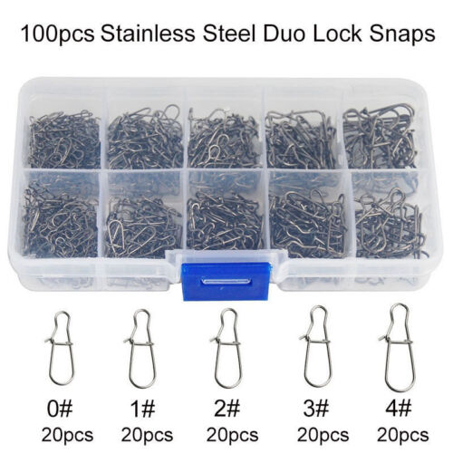 Lot Stainless Steel Nice Snaps  Fishing Duo lock snaps Enhanced Tackle Connector