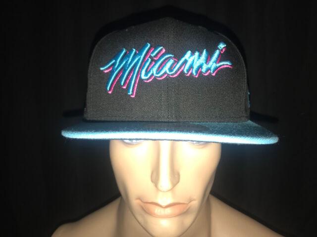 online retailer 63c8e 43949 switzerland miami heat vice era 9fifty nba city edition snapback cap south  beach hat 950 0edc5