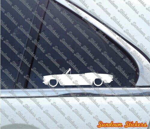 2X Lowered classic car stickers for Chevrolet Corvair Convertible 1960-69