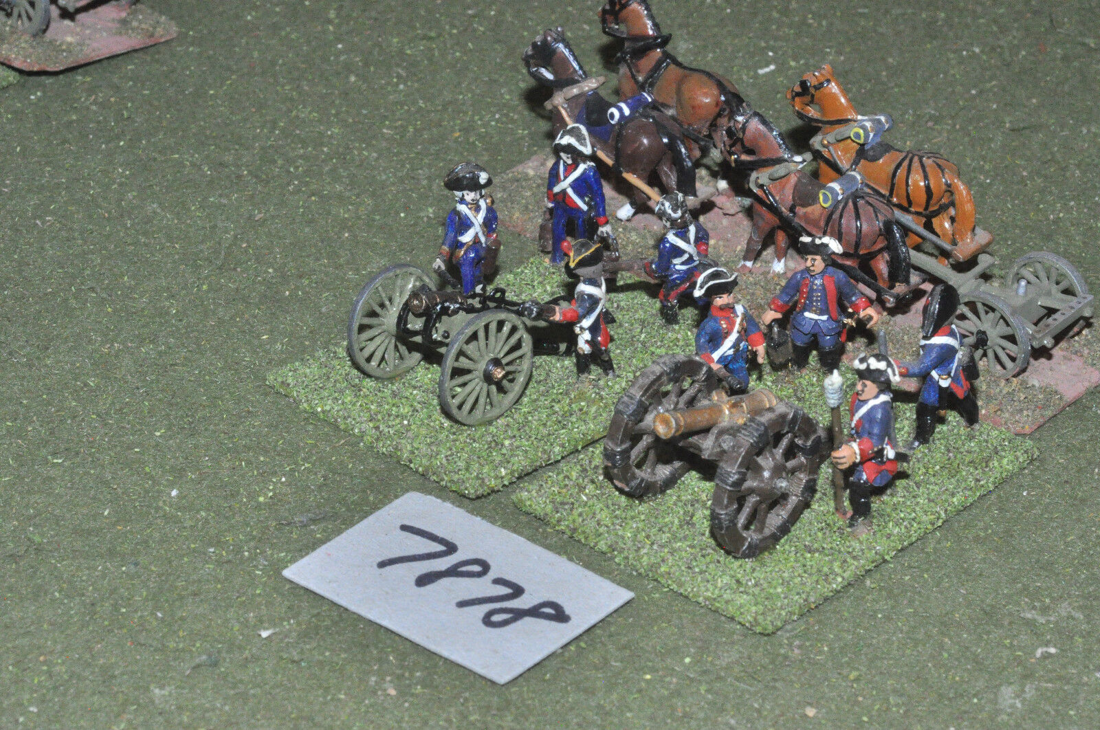 25mm napoleonic   french - revolutionary wars 2 guns 1 limber metal - art (7878)