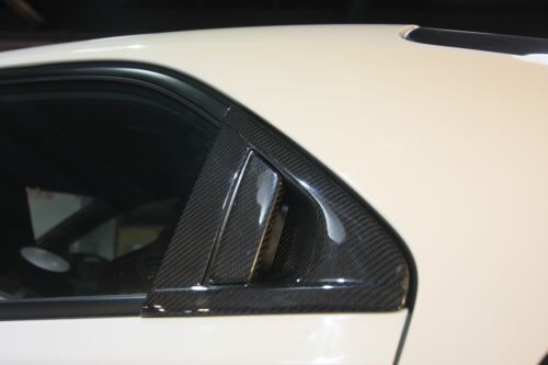 Real Carbon Fiber rear windows overlay cover fit Honda 2015 Civic Type-R FK2