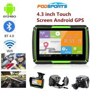 "Fodsports 4.3 "" TFT Bluetooth Moto Sat 8GB Android WiFi Navigatore GPS per auto"