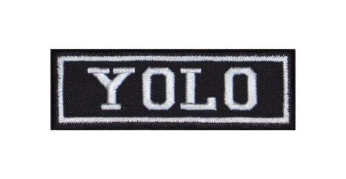 Yolo Biker Patch ricamate moto MC Rocker STAFFA immagine Heavy tonaca BADGE Live