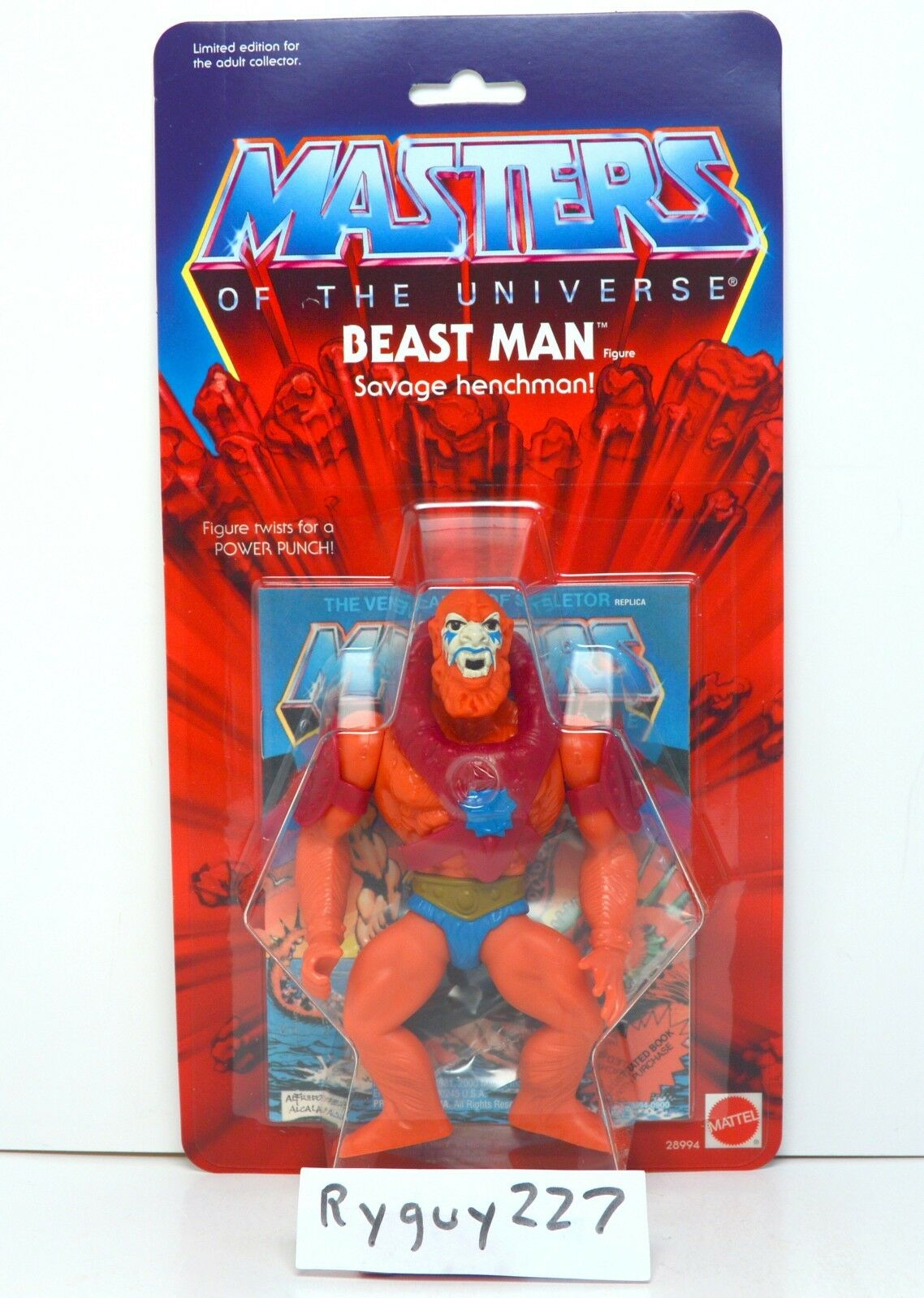 MOTU, Commemorative Beast Man, MISB, sealed, MOC, Masters of the Universe He-Man