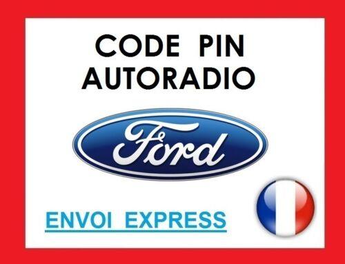 Code pin pour autoradio Ford transit galaxy max ka fiesta mondeo focus