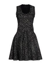 AZZEDINE ALAIA  Flared Circular Skirt Sleeveless Skater Stretch Knit Dress UK 10