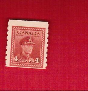1943  #  267 ** FNH  TIMBRE  CANADA  STAMP KING GEORGE VI COIL