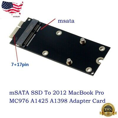 "New mSATA SSD To SATA 7+17 Pin Adapter Card for MacBook Pro 15/"" A1398 2012"