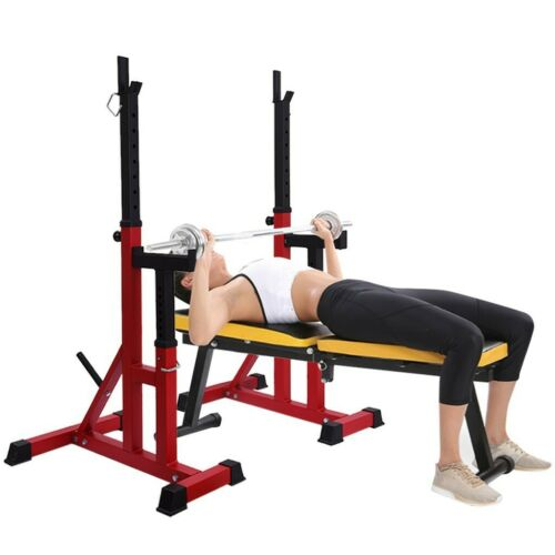 Details about  /480L Weider Olympic Squat Rack Stands Gym Equipment+Weight Storage Spotting Arms