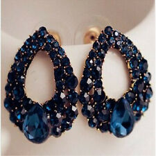 Large Blue Crystal Fashion Earrings, Gifts for Her, Wife Gifts, Girlfriend Gift