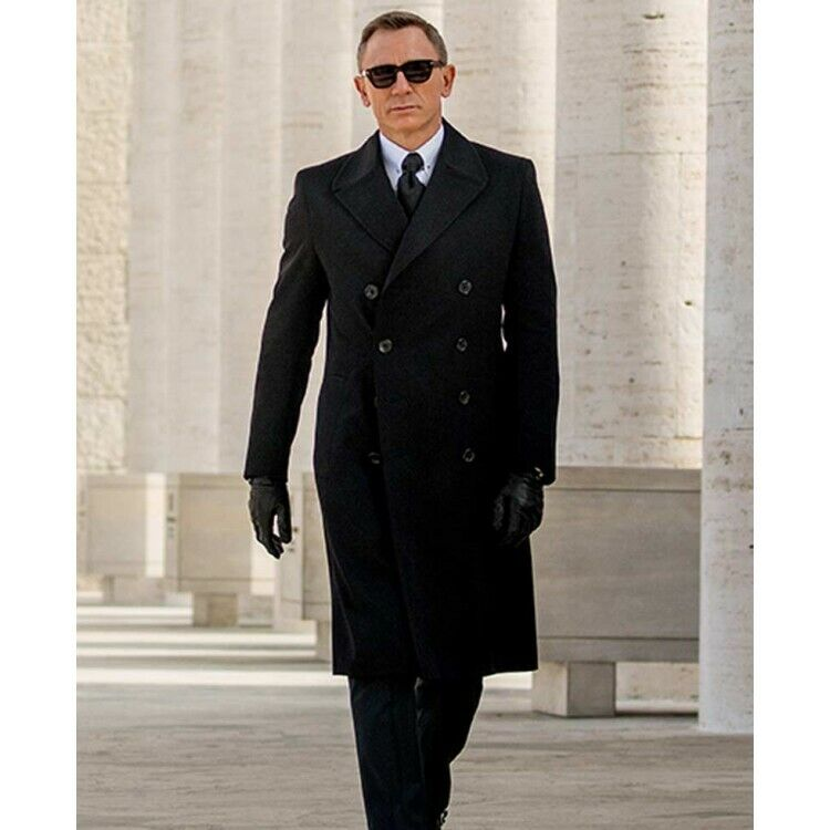 Daniel Craig Spectre James Bond Double Breasted Wool Coat